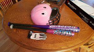 "Wilson helmet, wilson tee 25"" ball bat & 29""Easton softball bat for Sale in Battle Ground, WA"