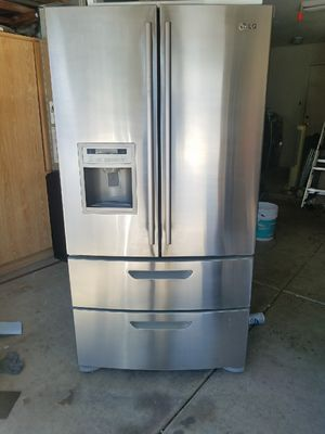 LG high-end stainless steel kFrench door refrigerator 4 doors electric double oven range stove over the range microwave excellent condition for Sale in Phoenix, AZ
