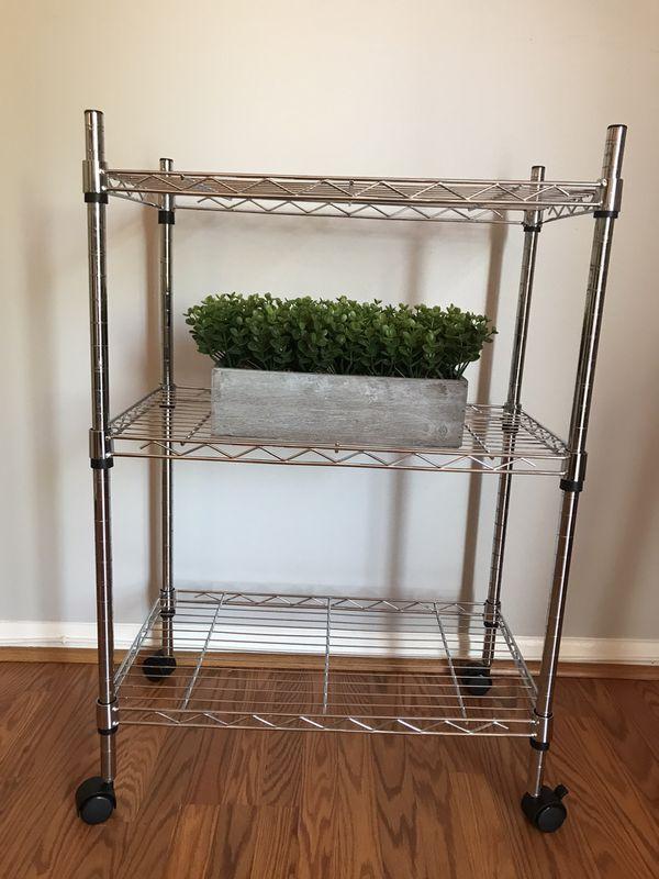 3 shelf stainless steel cart