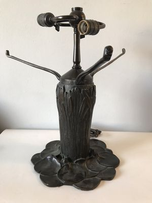 VINTAGE TIFFANY STYLE BRONZE TREE TRUNK LAMP BASE - FRENCH ART NOUVEAU ANTIQUE for Sale in Pasadena, CA