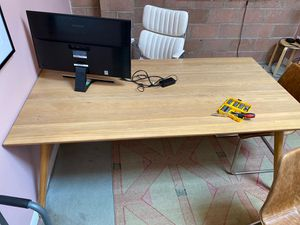 Article Seno Oak Dining or conference table extendable for Sale in Culver City, CA