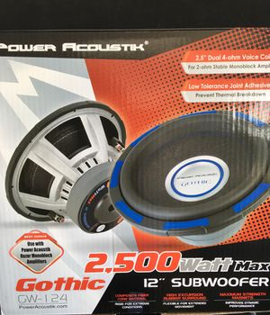 "Power Acoustic 2500 watt 12"" subwoofer for Sale in Jessup, MD"