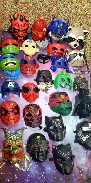 Halloween Masks ~ Spiderman,Captain America,TMNT,Rocket Raccon,Star Wars.. for Sale in Santa Ana, CA