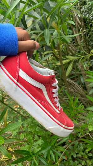 Vans old skill formula red and white canvas skate shoes for Sale in Atlanta, GA