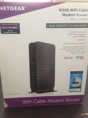 Wifi cable modem router for Sale in Linthicum Heights, MD