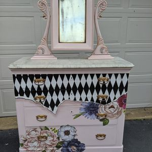 Antique Marble Top Dresser, Redone for Sale in Oakton, VA