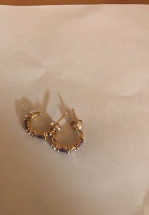 Amethyst and diamond earrings - new for Sale in Denver, CO