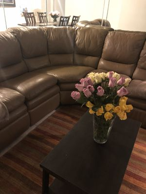 Couch sofa sectional two recliners for Sale in Miami, FL