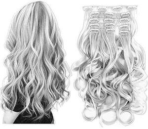 Silver Gray Full Head Clip in extension for Sale in Carson, CA