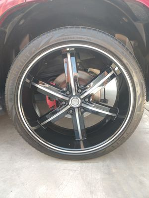 "24"" U2 Wheels 55 Black Machined Rims for Sale in Fontana, CA"