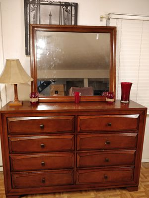 Nice wooden white dresser with hutch/shelves , all drawers sliding smoothly, pet free smoke free. Sc for Sale in Annandale, VA