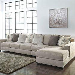 NEW, LARGE, L SHAPPED, RAF CORNER CHAISE SECTIONAL, PEWTER COLOR. for Sale in Santa Ana,  CA