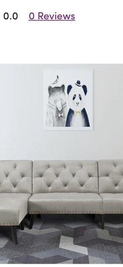 Velvet Reversible Sleeper Sofa & Chaise for Sale in Dunwoody,  GA
