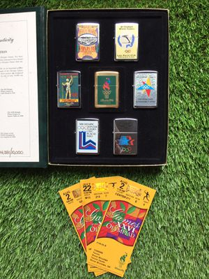 Vintage 1996 Atlanta Olympics Zippo Lighter Collection Full Set Numbered Authentic Lake Placid Los Angeles California St. Louis Torch Memorabilia Col for Sale in Duluth, GA