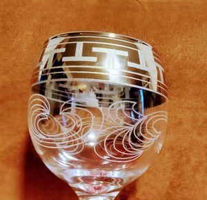 6 piece PLANTINUM TRIM WINE GLASSES for Sale in Hyattsville, MD