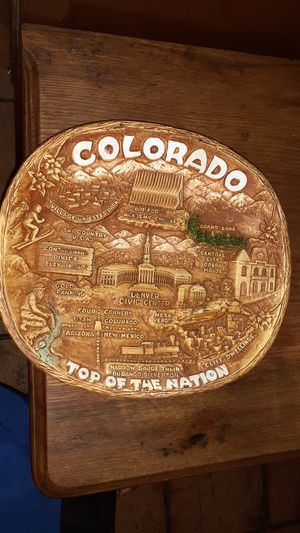 COLORADO TOP OF THE NATION COMPOSITE PLACARD WALL HANGING for Sale in Los Angeles, CA