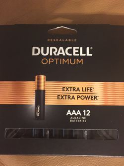 Duracell Optimum AAA batteries, 12 Pack for Sale in Valrico,  FL