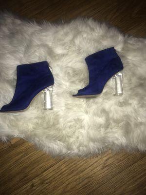 Blue clear heels size 9 in women for Sale in Tempe, AZ
