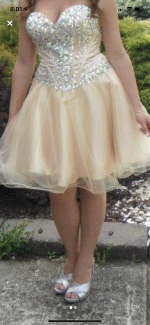 Gold short prom dress for Sale in Lakewood Township, NJ