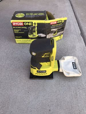 RYOBI 18-Volt ONE+ Cordless 1/4 Sheet Sander (Tool-Only) with Dust Bag for Sale in Phoenix, AZ