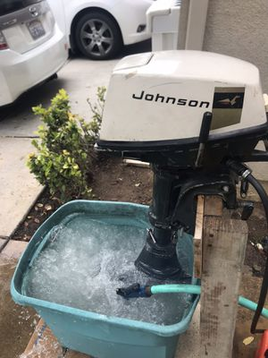 4hp Johnson outboard motor with rare folding lower unit. Runs good, short shaft for Sale in HUNTINGTN BCH, CA