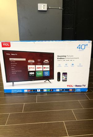 Brand New Unused TCL LED 40 Inch Smart TV with Roku for Sale in Fort Lauderdale, FL