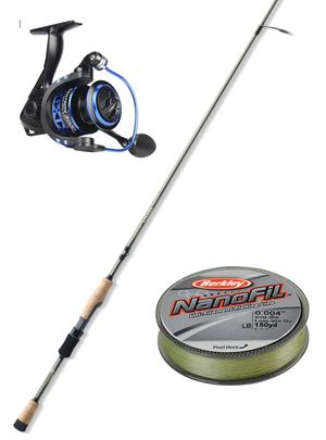 like new - St. Croix Eyecon Spinning Fishing Rod + KastKing Centron Spinning Reel + Berkley NanoFil Braid Line for Sale in Everett, WA