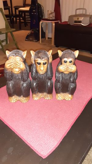 See, hear and speak no evil hand crafted monkeys for Sale in Glendale, AZ