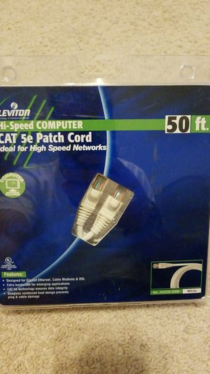 NEW - Hi-speed network CAT 5e patch cord for Sale in Windermere, FL