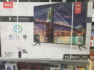 "55"" LED SMART 4K ULTRA HDTV BY TCL WITH ROKU STREAMING top MODEL 6 SERIES BORDLESS TV for Sale in Los Angeles, CA"