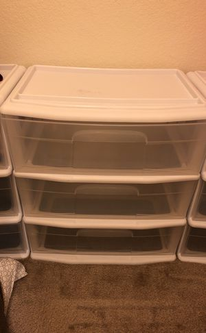 plastic drawers (3 available) for Sale in Denver, CO
