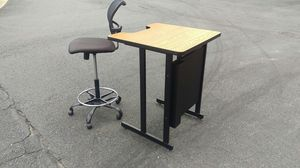 Teachers desk and chair for Sale in Burke, VA