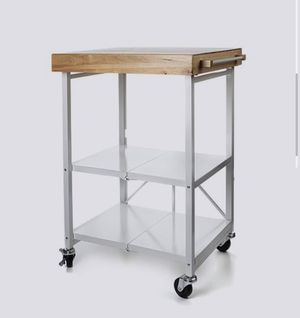 Origami Folding Kitchen Island Cart Storage Rack for Sale in Severn, MD