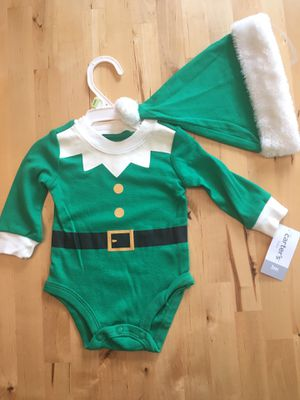 2PC Carter's Elf Bodysuit with Matching Hat 3mo for Sale in Madison Heights, MI