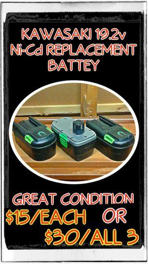 Kawasaki 19.2v Ni-Cd Replacement Batteries for Sale in Kent, WA