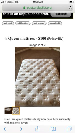 Queen mattress. Firm. for Sale in Prineville, OR