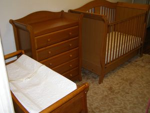 Baby Toddler Bedroom Set - Crib, Dresser, Change Table + Free Mattress - Delivery Extra for Sale in Queens, NY