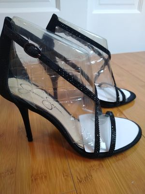 Pick up or ship Jessica Simpson black glitter heels size 8 for Sale in Queens, NY