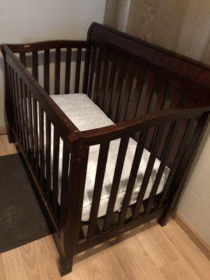 3 in 1 Cherry Wood Crib for Sale in Corona, CA