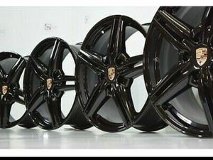 "19"" Porsche Cayenne Black Factory OEM Wheels Rims for Sale in Solana Beach, CA"