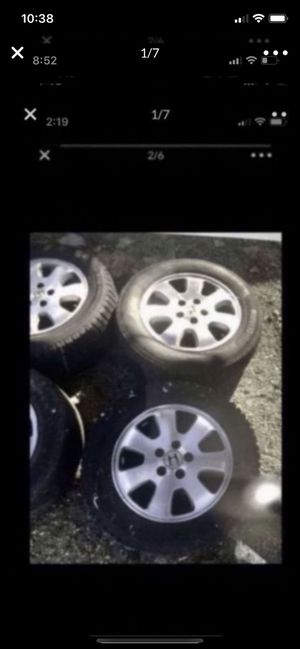 Tire and wheel package of 4 for Honda Odyssey 225/60/r16 for Sale in Chula Vista, CA