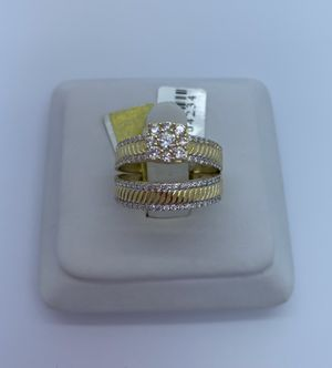 Wedding set ring cz 14k for Sale in Tampa, FL