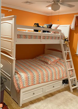 Bunk bed & armoire dresser for Sale in Toms River, NJ