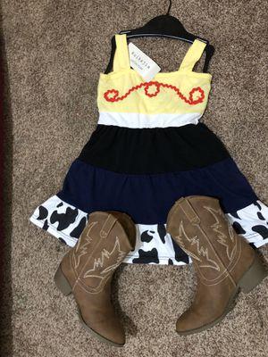 Toy story Jessie dress (BN) size 7/8 w/size 2 (13/1) for Sale in Fresno, CA