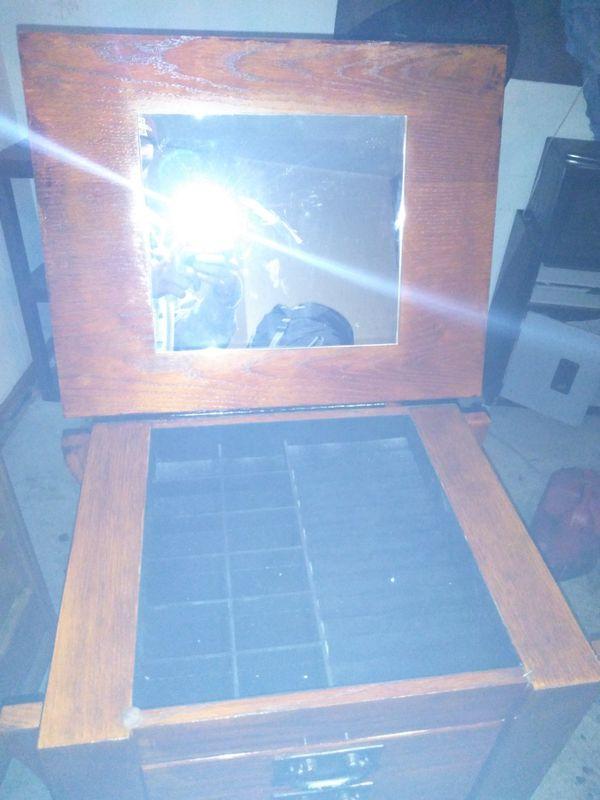 Solid hardwood jewelry cabinet