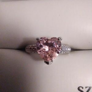 Size 6 Pink Sapphire Heart Ring 925 Sterling. for Sale in Lombard, IL