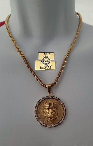 20inch 🚨🚨🚨 14k Gold plated Franco Chain 🚨🚨🚨 I Deliver for Sale in Miami, FL