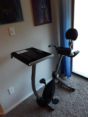 'Wirk' exercise bike and work station with adjustable standing desk for Sale in Austin, TX