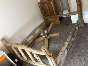 Rustic cabin bed frame full size for Sale in Northglenn, CO