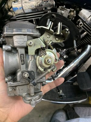 Harley 27412-99 Keihin CV Carburetor Carb W/ Cruise Control Bracket. $200 Obo or trade for Harley Road King or 88TC aftermarket parts for Sale in Tacoma, WA